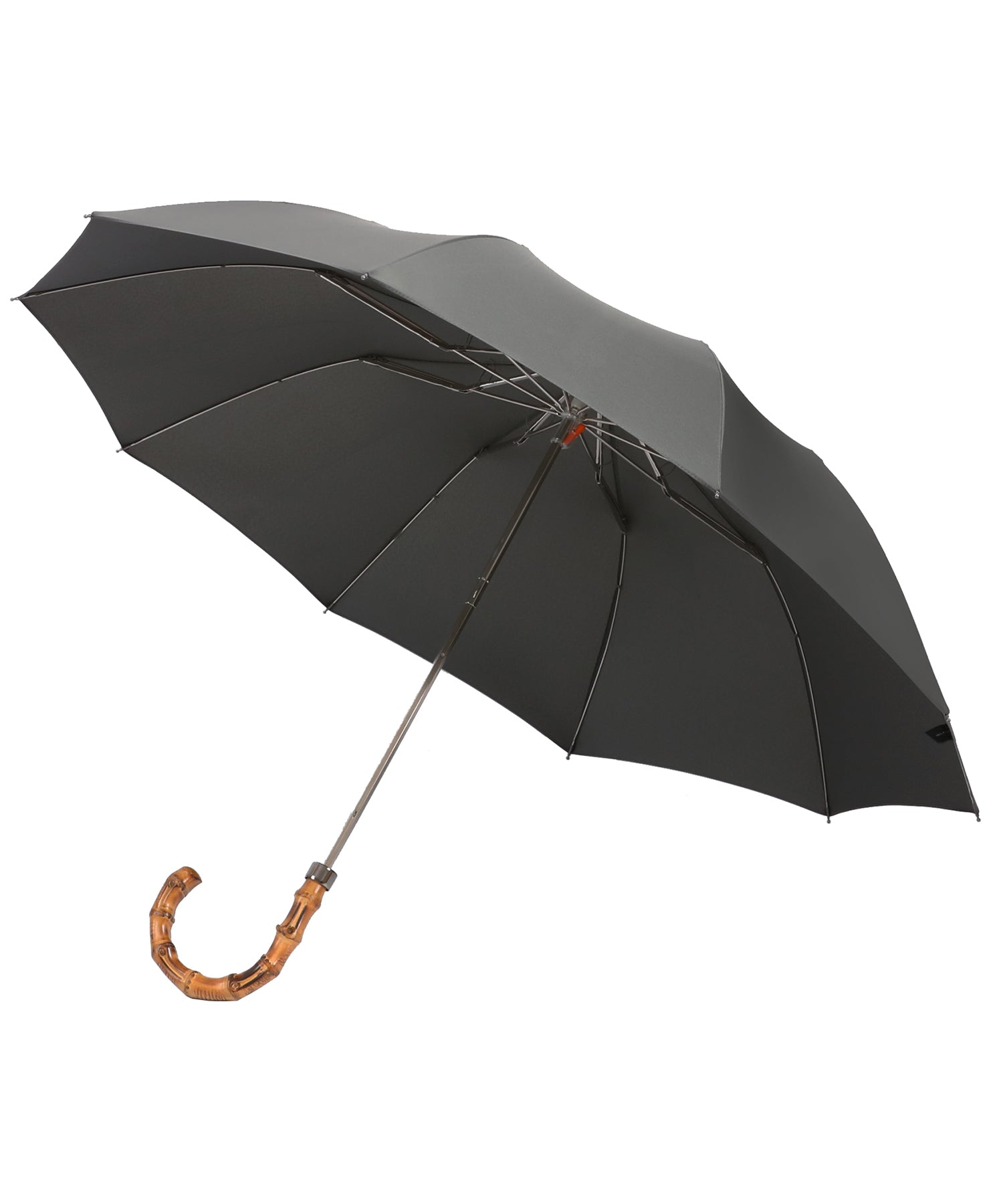 London Undercover Grey Telescopic Foldable Umbrella with Wahngee Handle