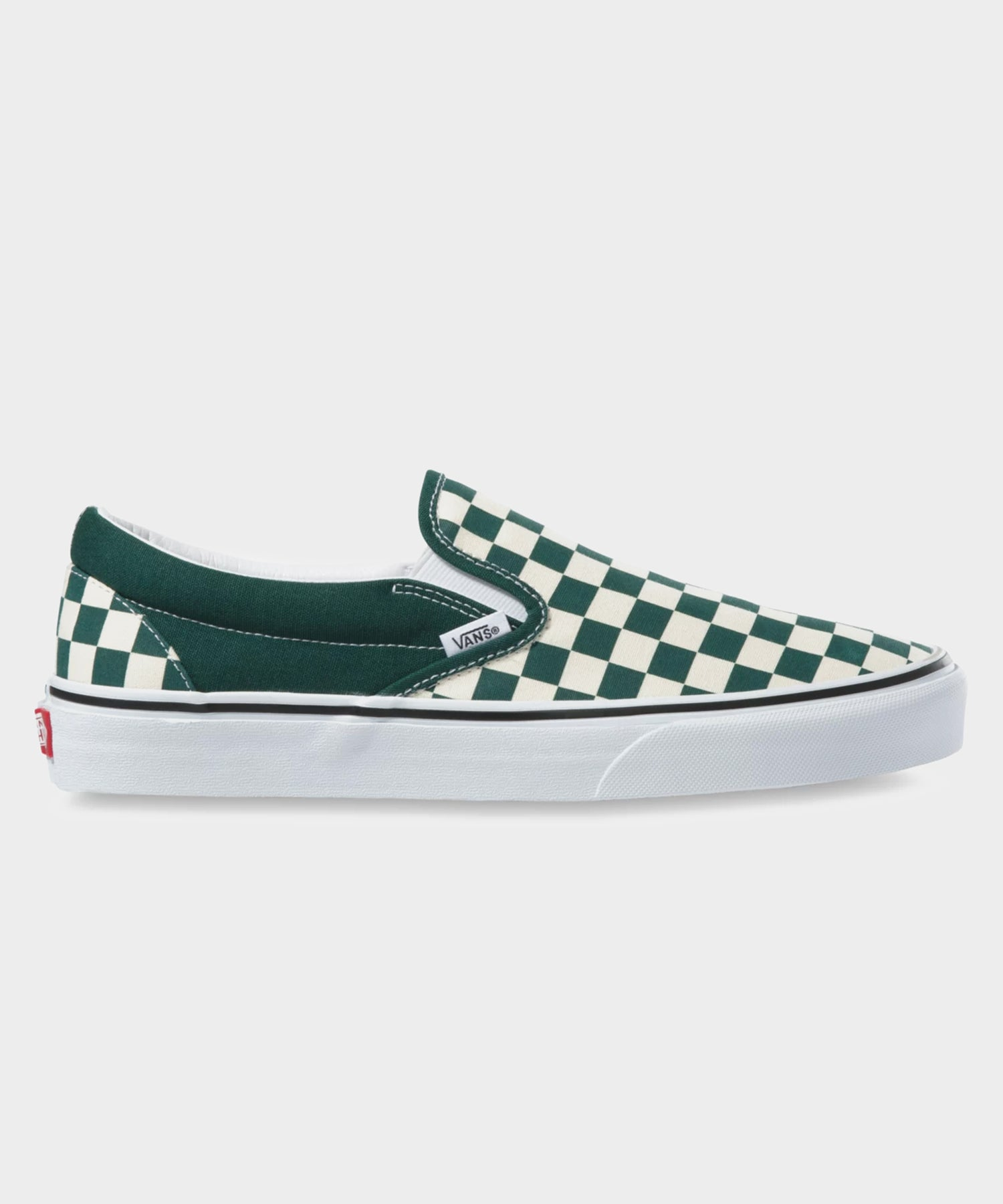 Vans Checkerboard Classic Slip-On in Green