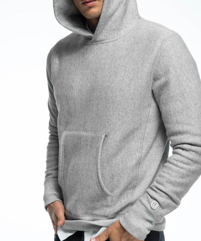 Popover Hoodie in Light Grey Mix