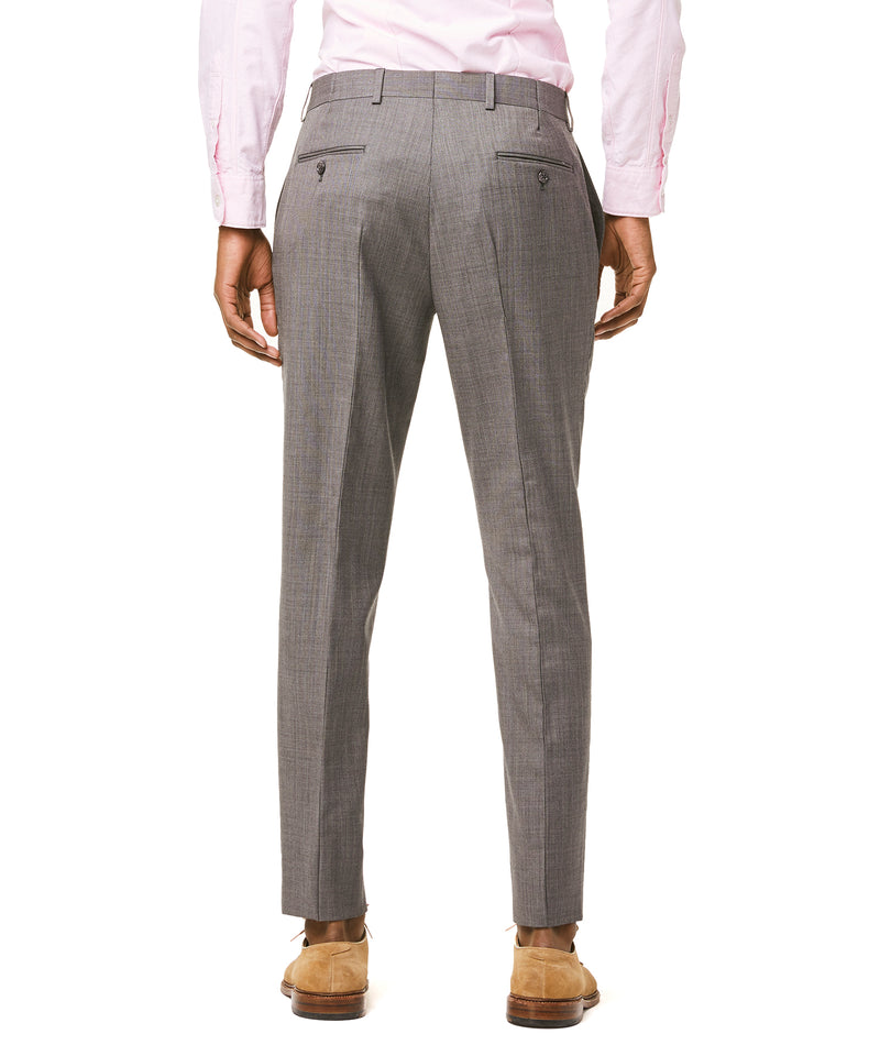 Sutton Stretch Tropical Wool Suit Trouser In Light Charcoal