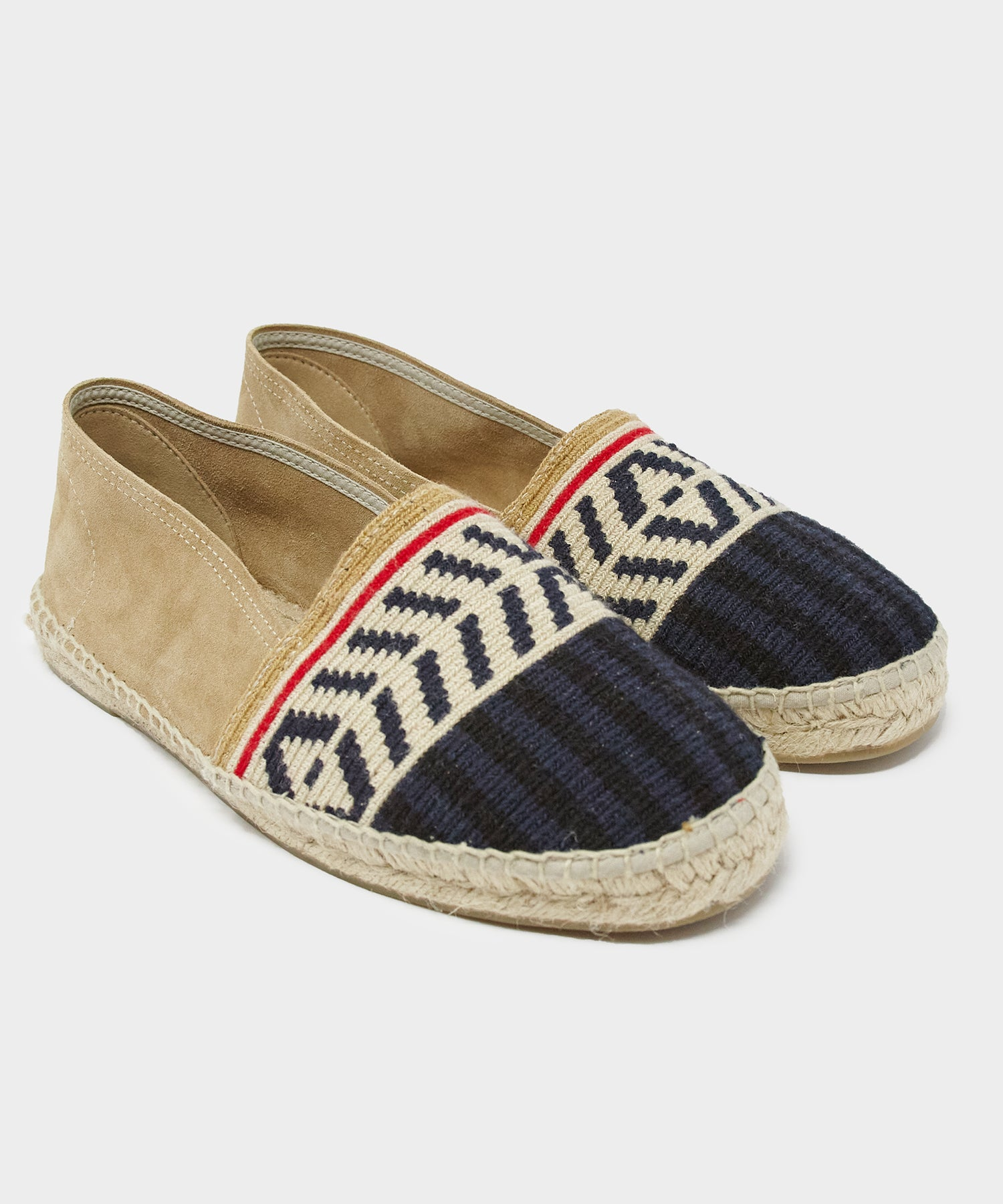 Guanábana Tan Espadrille with Stripe Toe