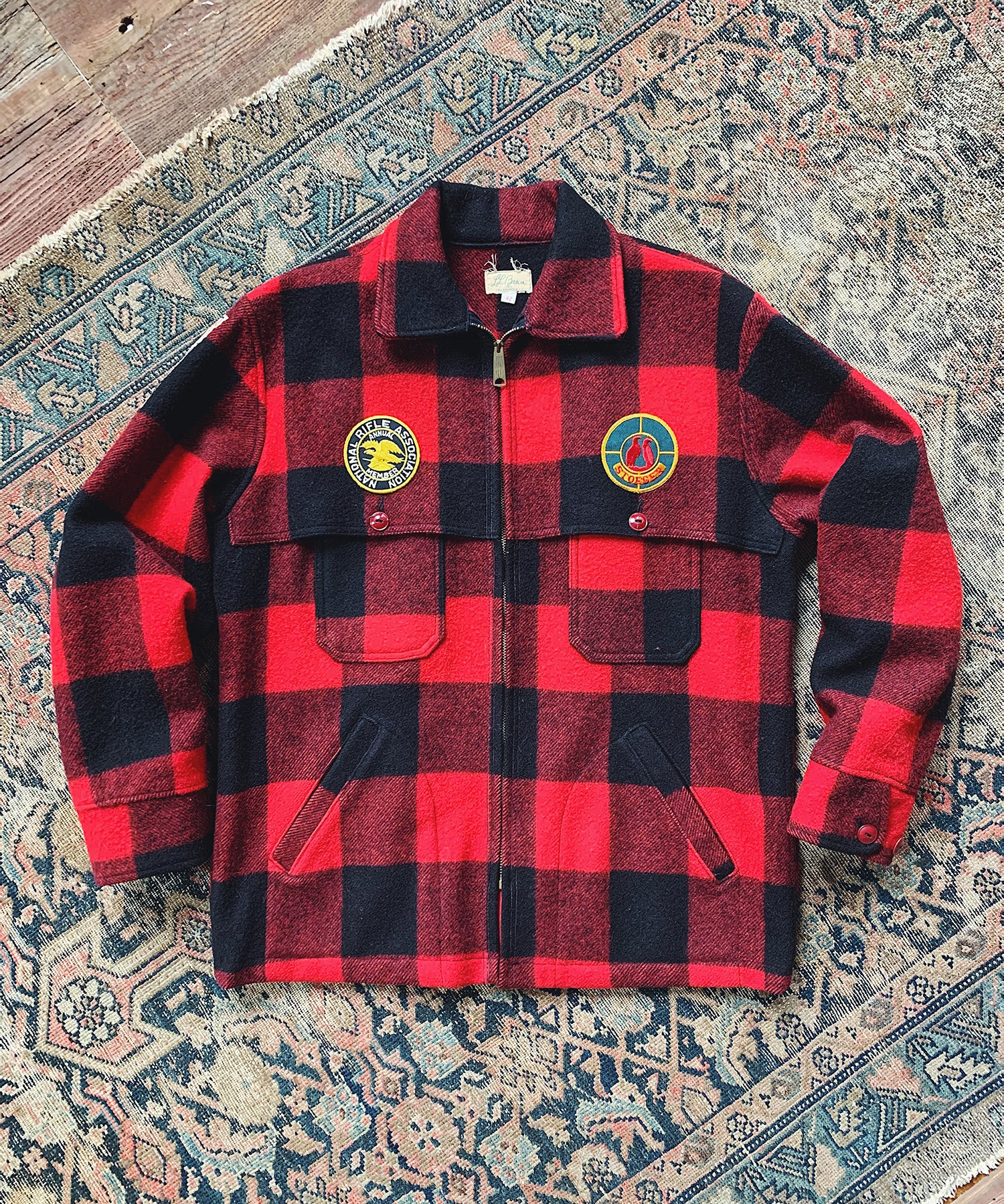 Item #4 - Todd Snyder X Wooden Sleepers 1960's Maine Guide Jacket in Red & Black Plaid - SOLD OUT