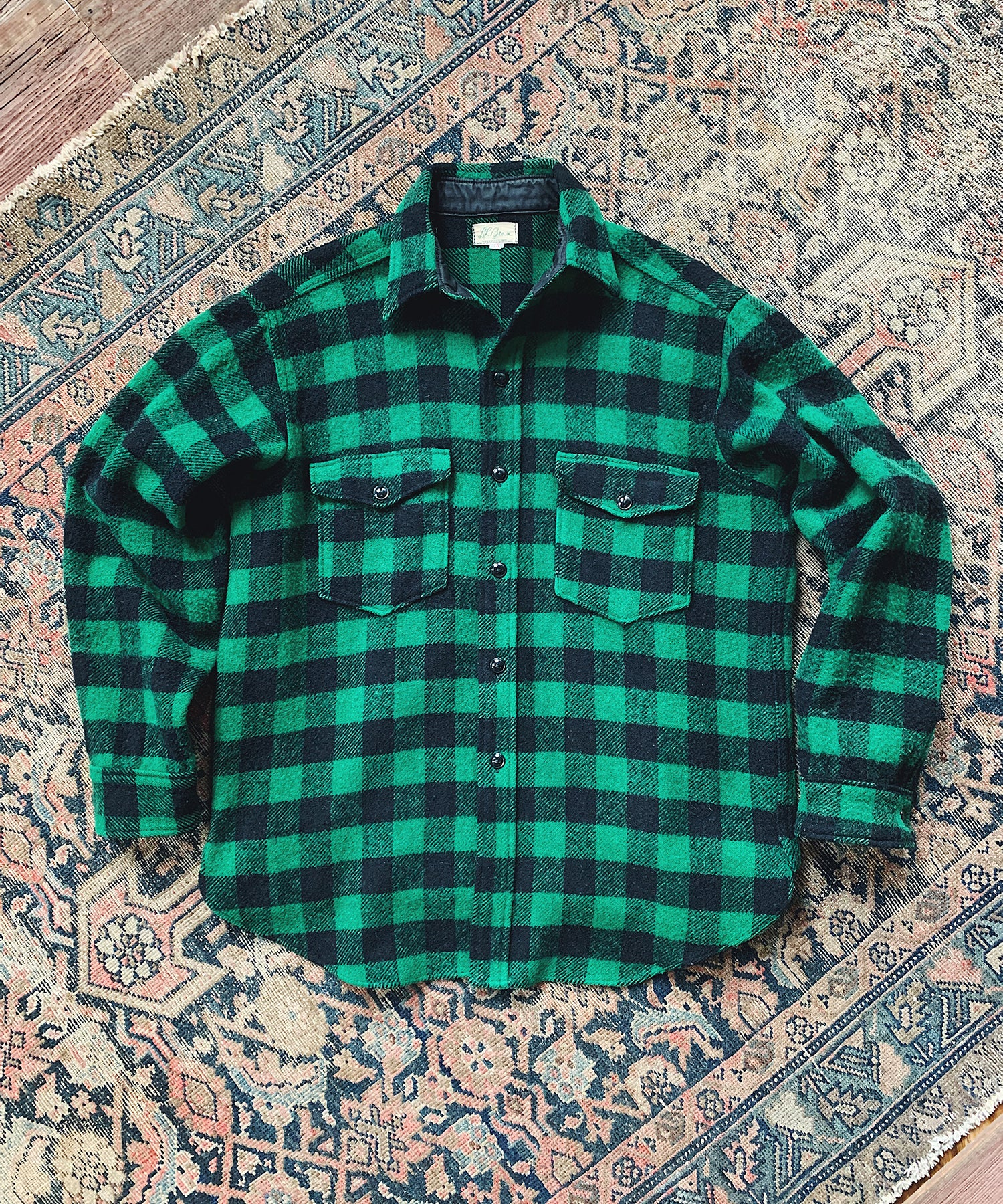 Item #5 - Todd Snyder x Wooden Sleepers 1950's Maine Guide Shirt in Green Plaid - SOLD OUT