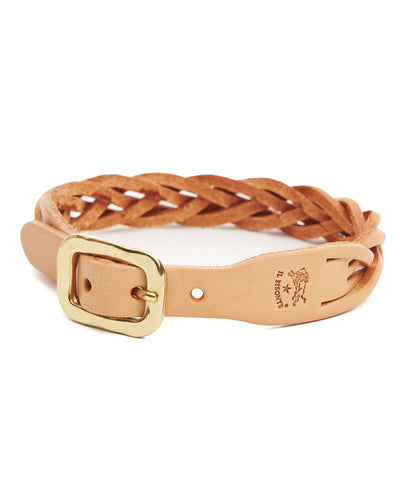Il Bisonte Braided Cowhide Bracelet in Natural