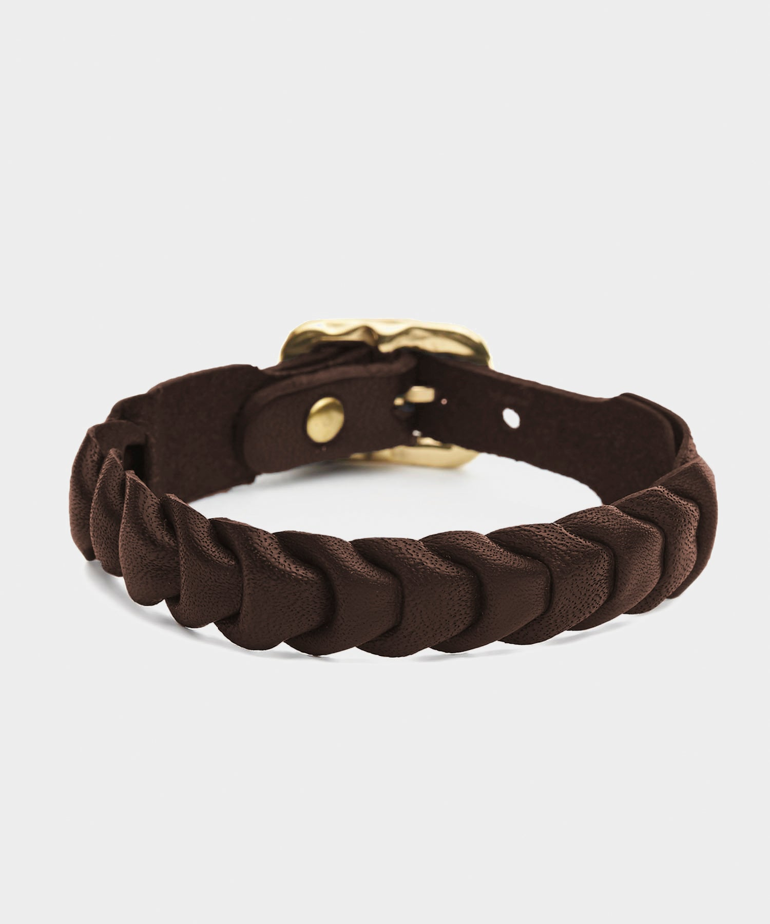 Il Bisonte Fishscale Cowhide Bracelet in Brown