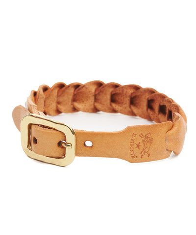 Il Bisonte Fishscale Cowhide Bracelet in Natural