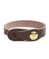 Il Bisonte Classic Cowhide Bracelet in Brown