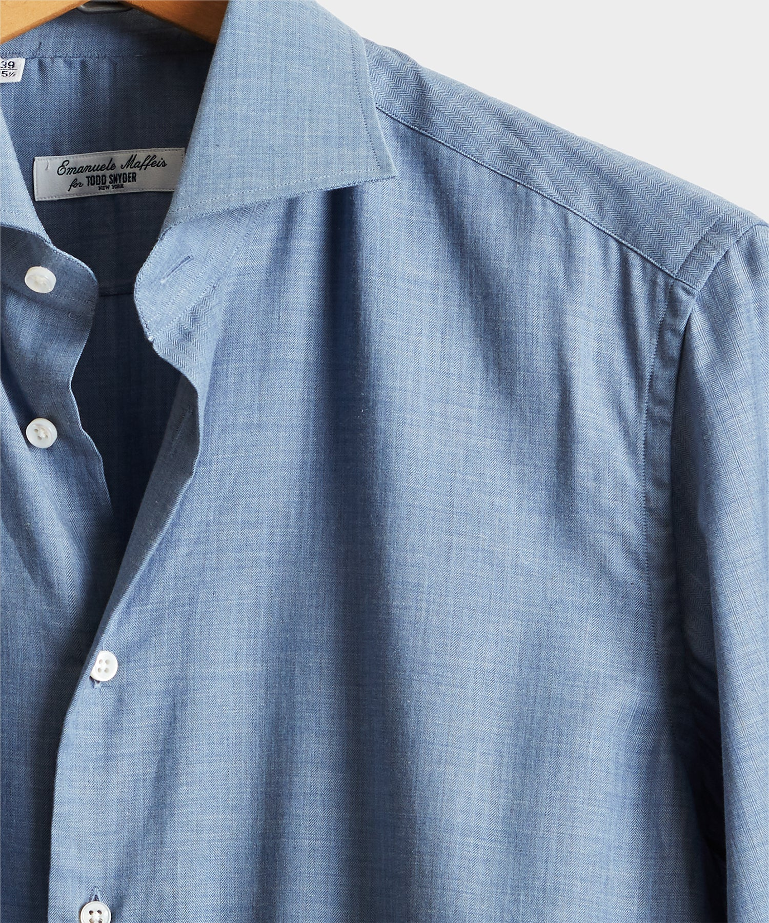 Camiceria E. Maffeis Solid Cotton Dress Shirt in Blue