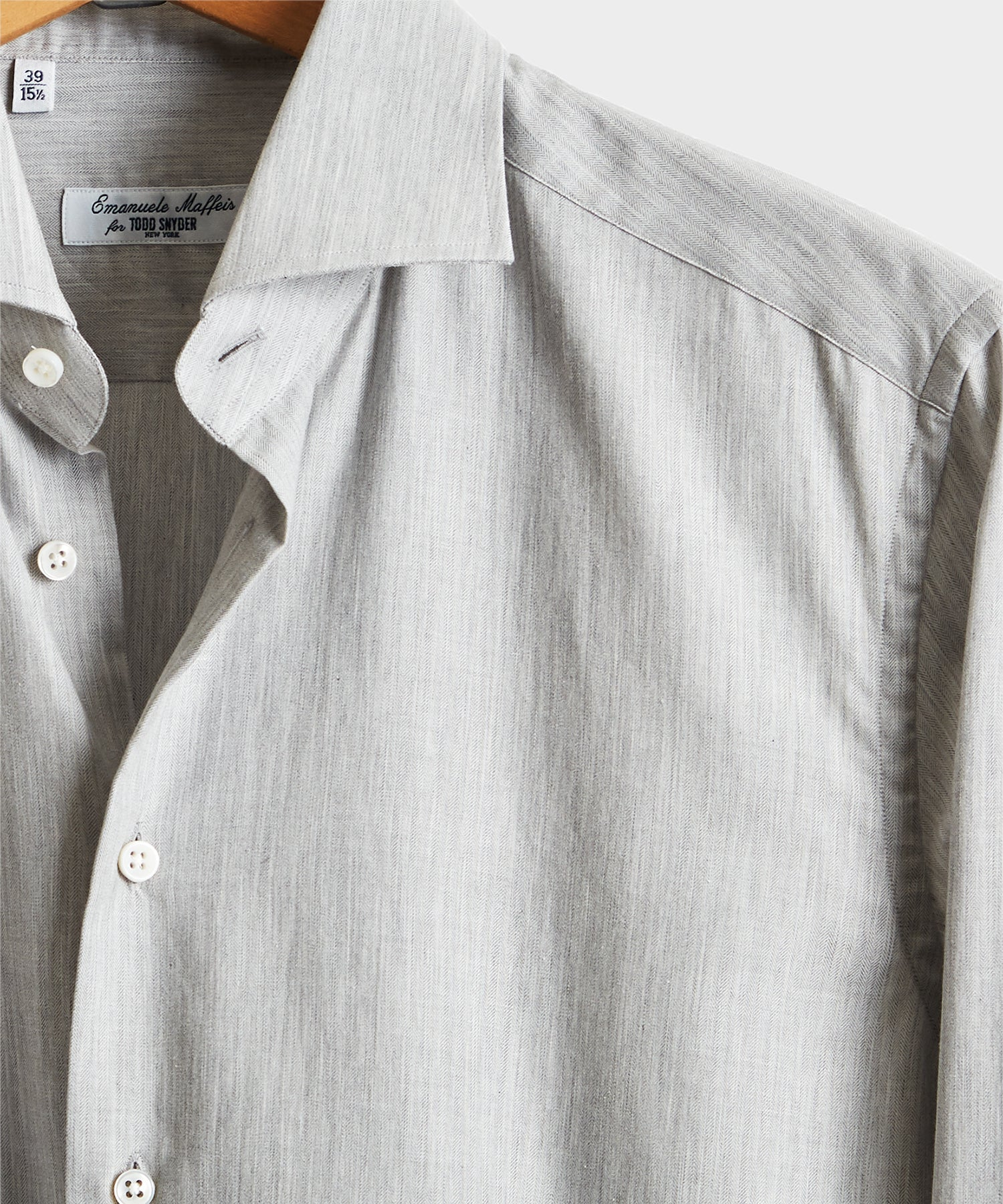 Camiceria E. Maffeis Solid Cotton Shirt in Grey