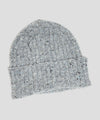 Drake's Wool Donegal Rib Hat in Light Grey
