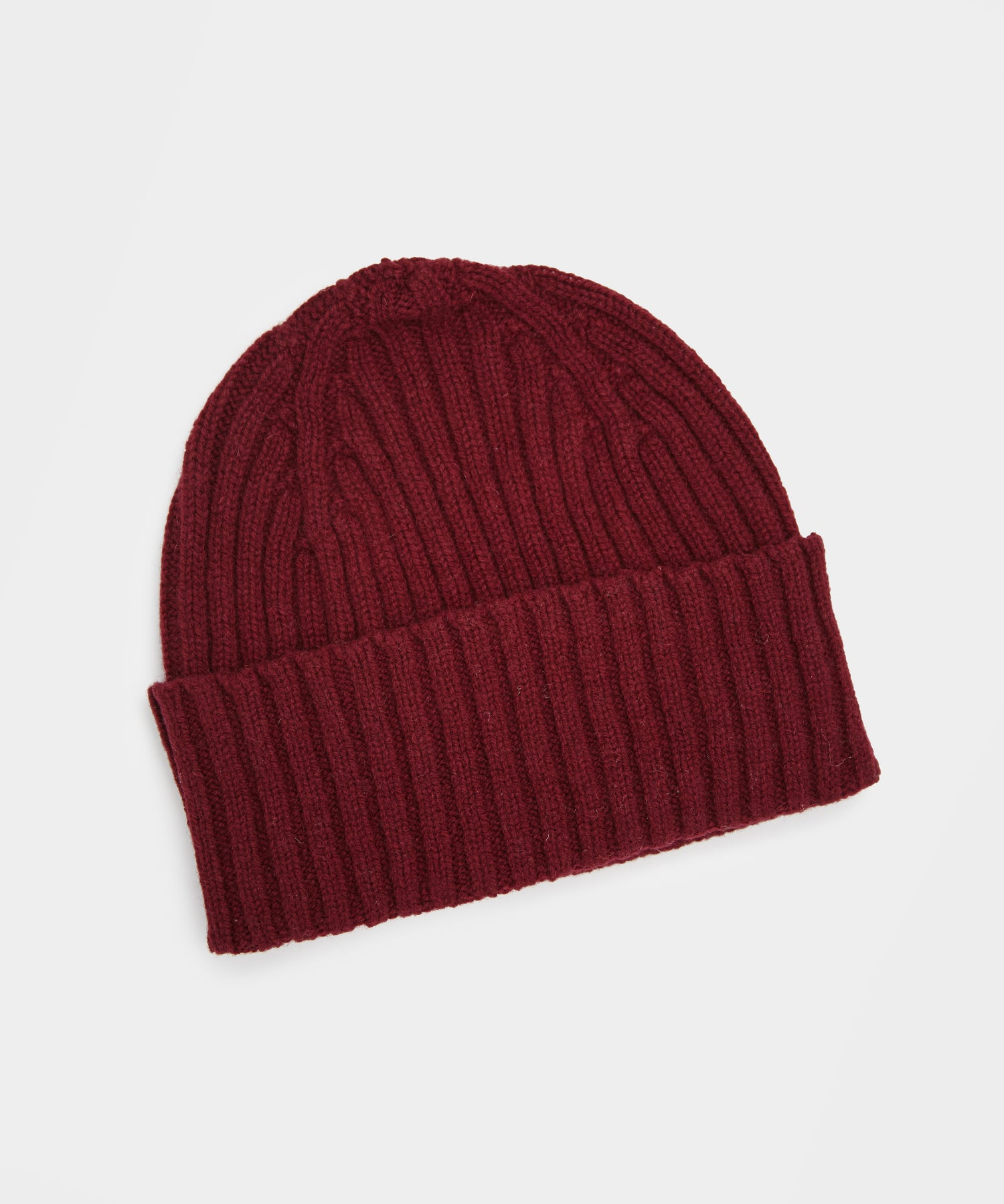 Drake's Classic Lambswool Hat in Burgundy