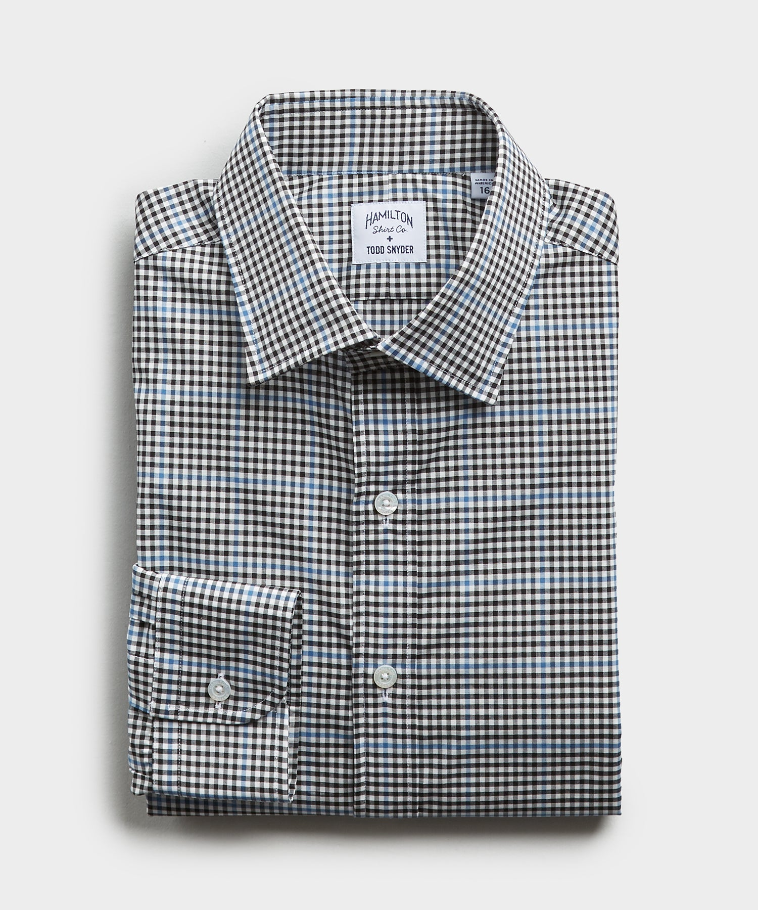 Made in the USA Hamilton + Todd Snyder Plaid Shirt in Black And Blue