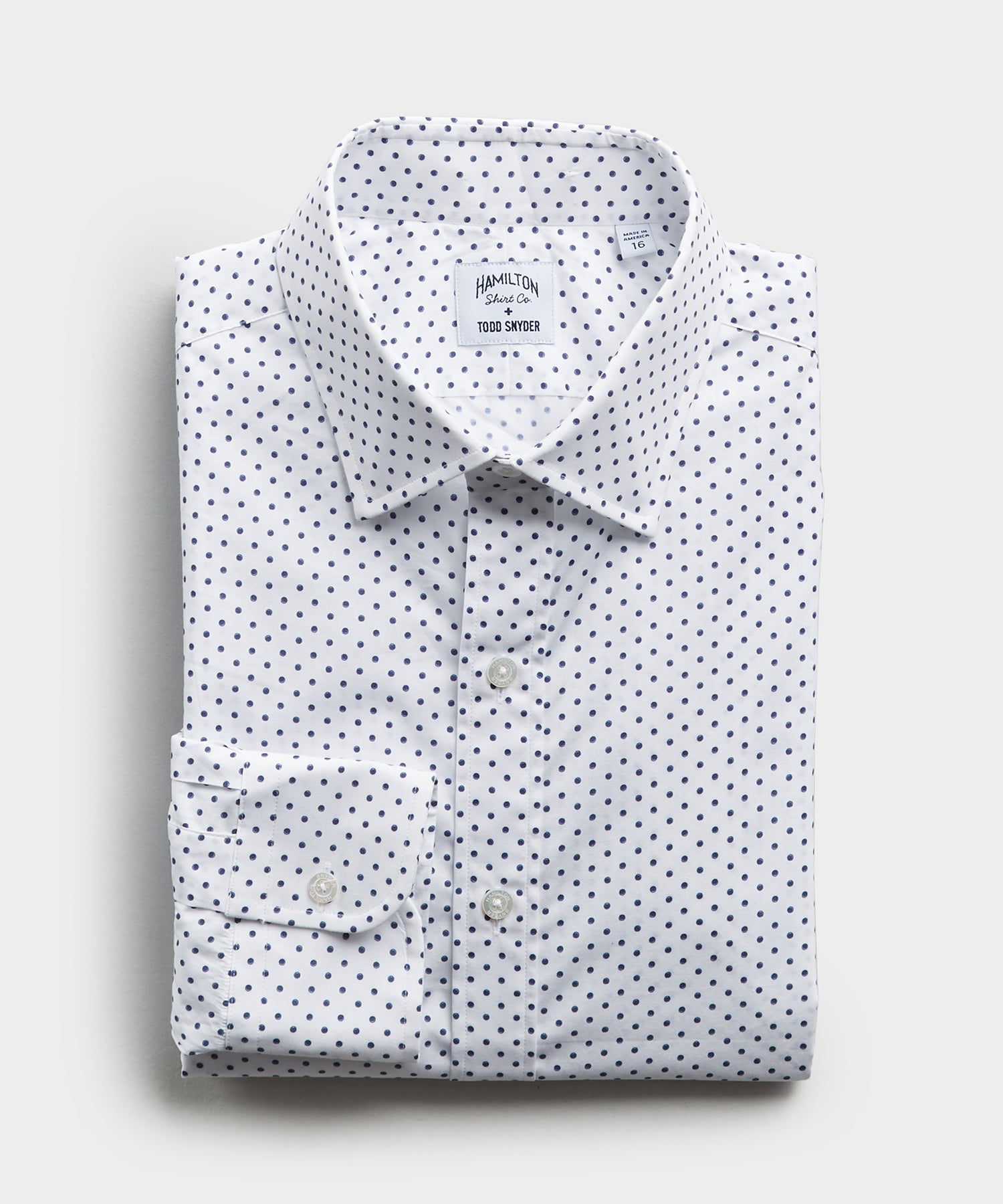 Made in the USA Hamilton + Todd Snyder Polka Dot Dress Shirt