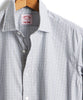 Made in the USA Hamilton + Todd Snyder Micro Grid Dress Shirt in Grey Alternate Image