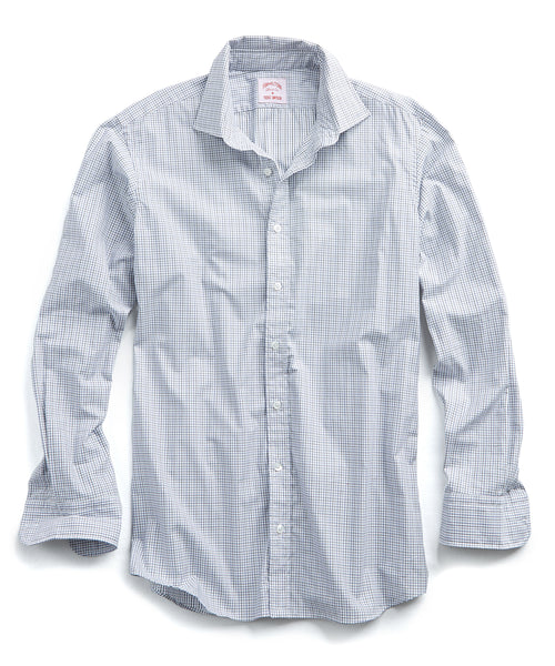Made in the USA Hamilton + Todd Snyder Micro Grid Dress Shirt in Grey