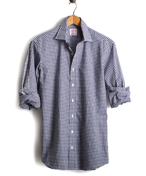 Made in the USA Hamilton + Todd Snyder Dress Shirt in Navy Gingham