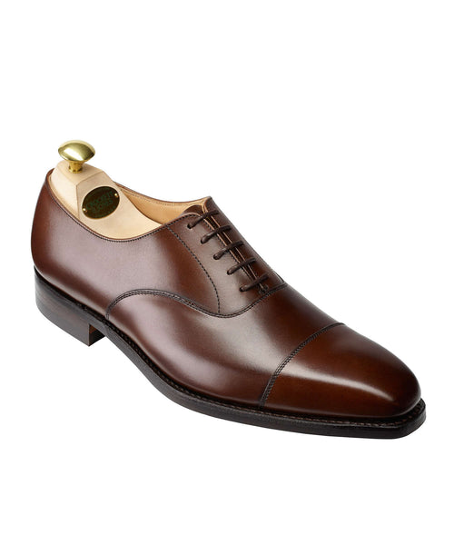 Crockett and Jones Hallam Cap-toe Shoe in Dark Brown
