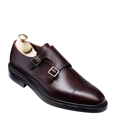 Crockett and Jones Harrogate Double Monkstrap Shoe in Dark Brown
