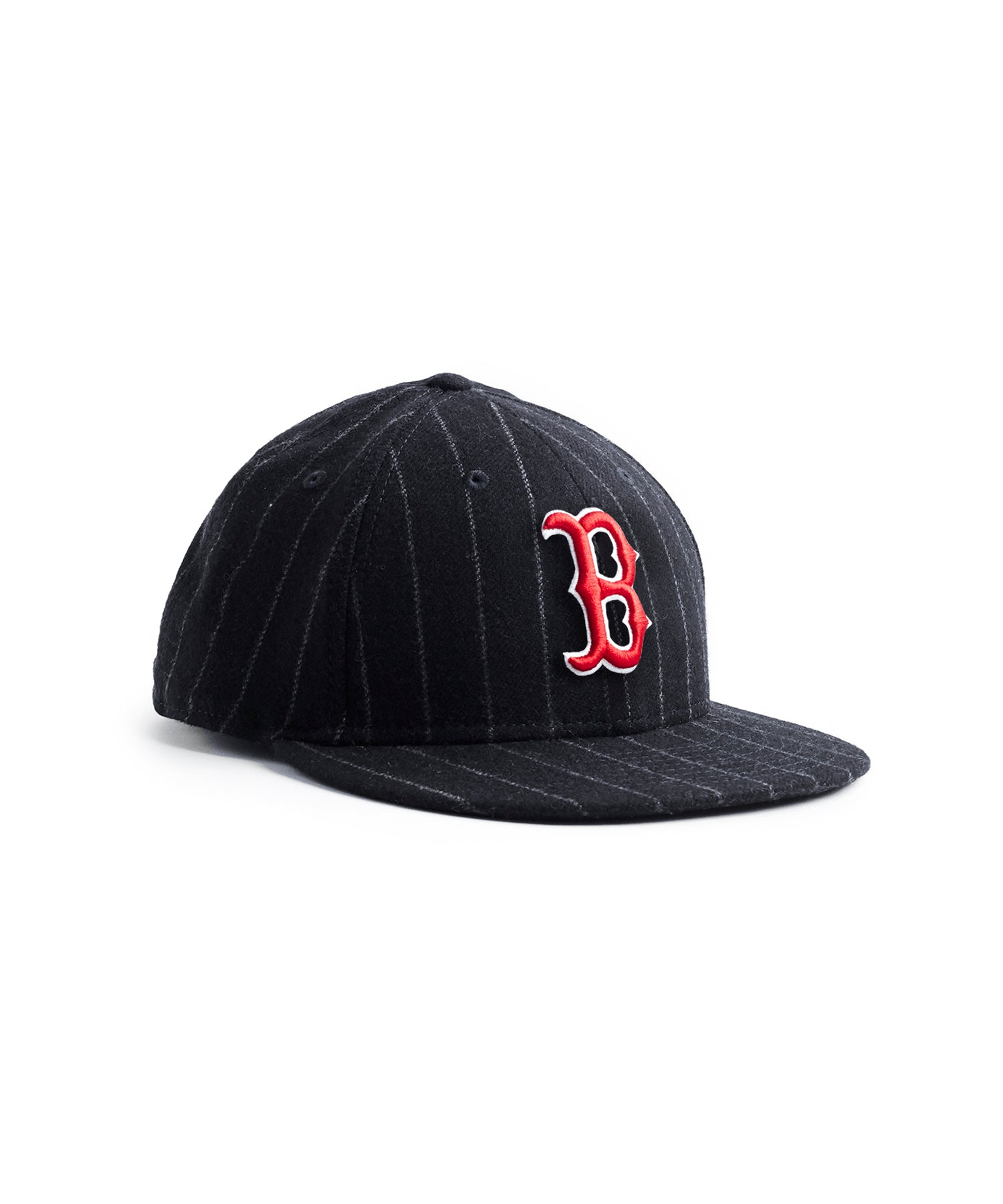 Exclusive New Era Boston Red Sox In Abraham Moon Navy Wool Chalkstripe