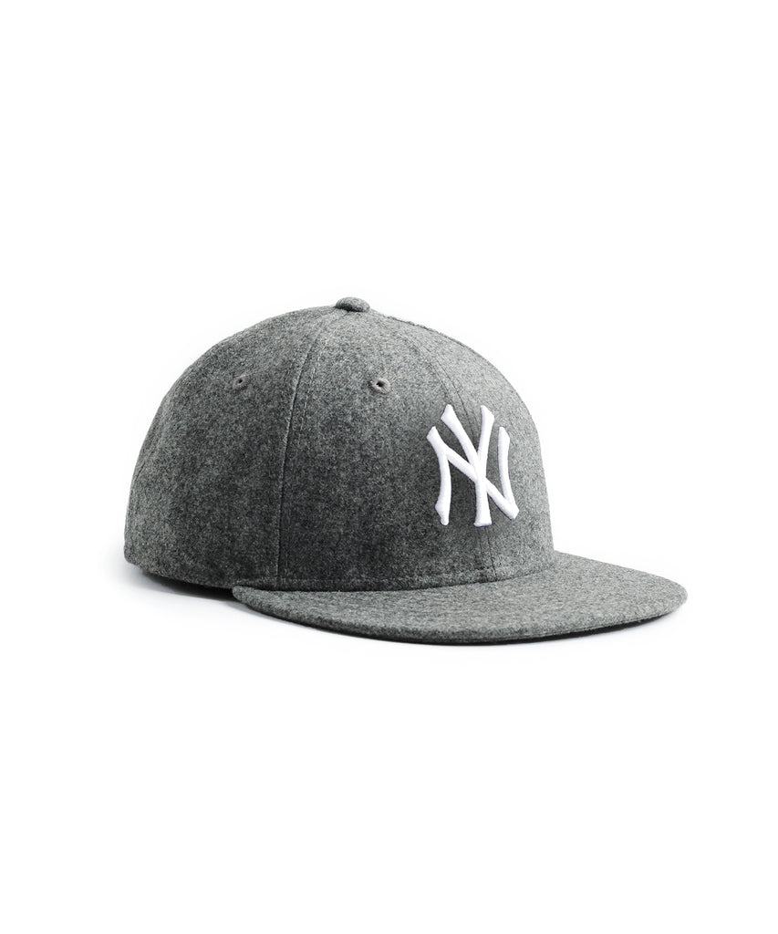 Exclusive NY Yankees Hat In Italian Barberis Grey Wool Flannel dc574a63f47