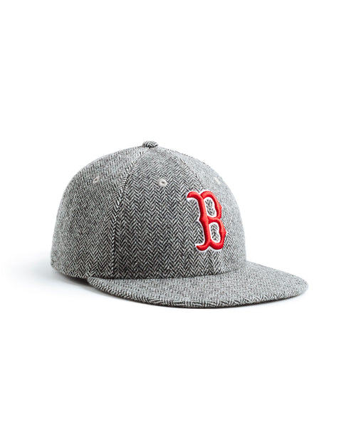 Exclusive New Era Boston Red Sox Hat In Abraham Moon Herringbone Lambswool
