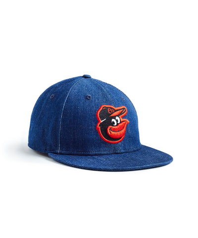 TODD SNYDER + NEW ERA MLB BALTIMORE ORIOLES CAP IN CONE DENIM