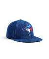 TODD SNYDER + NEW ERA MLB TORONTO BLUE JAYS CAP IN CONE DENIM