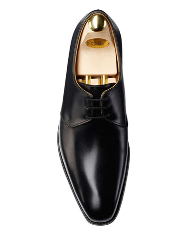 Crockett and Jones Highbury Plain-toe Shoe in Black Calf