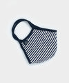 Cotton Jersey Stripe Face Mask in Navy