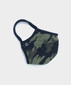 Cotton Jersey Camo Face Mask in Olive