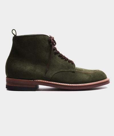 Todd Snyder + Alden Indy Boot In Reverse Green Chamois