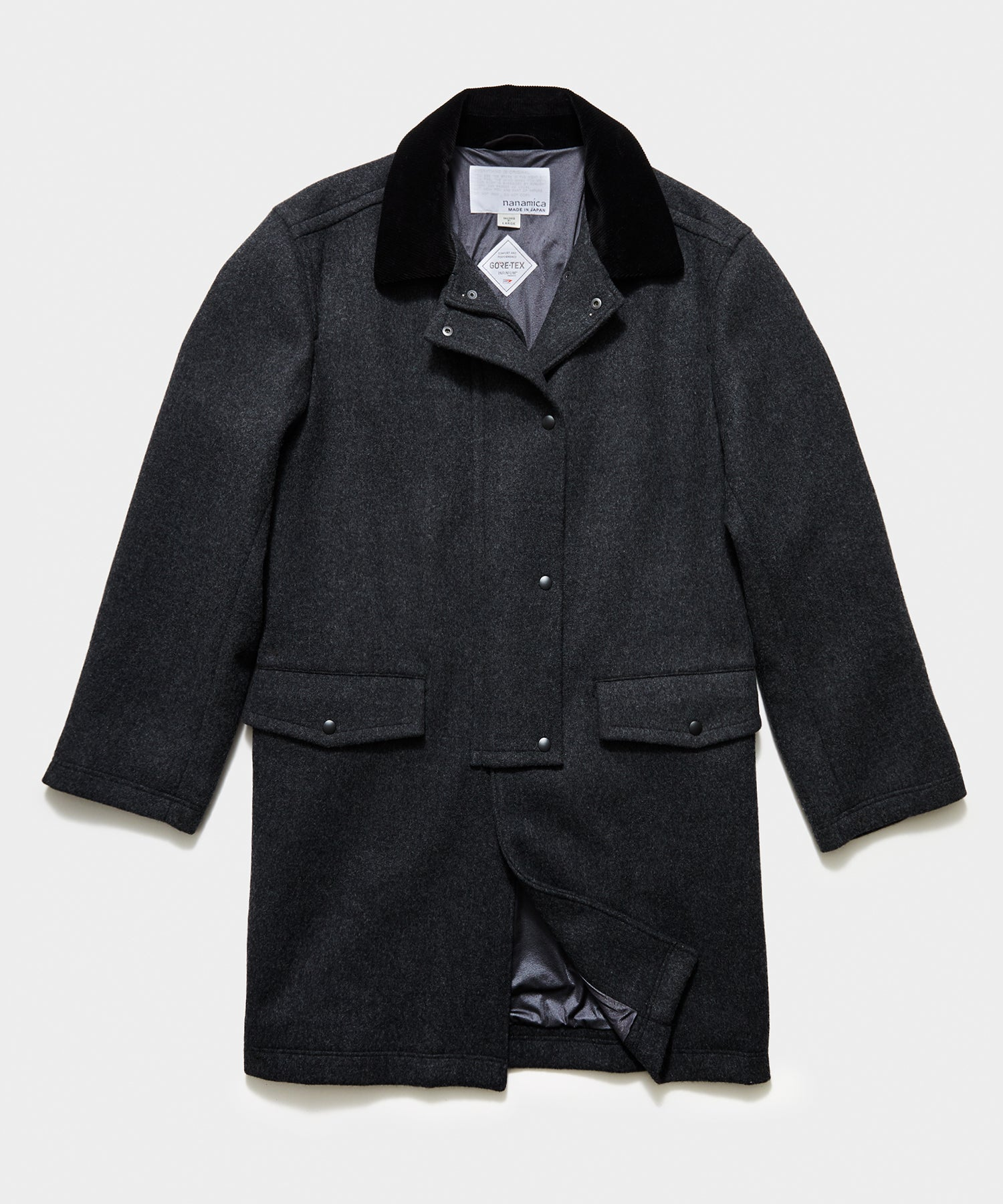 Nanamica Gore-tex Infinium Harbor Coat in Grey