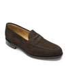 Loake Imperial Loafer in Dark Brown Suede