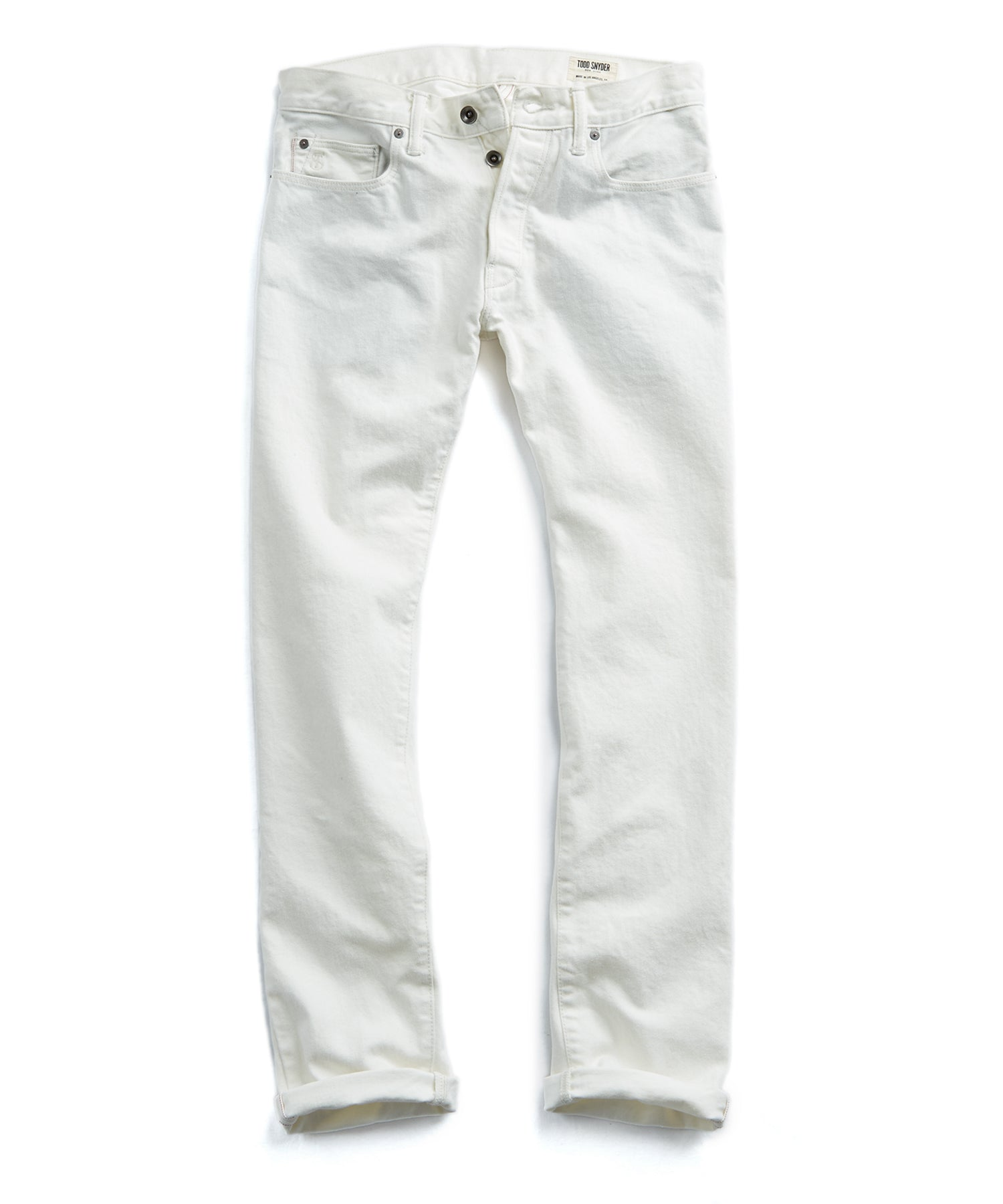 Made in L.A. Selvedge White Jean