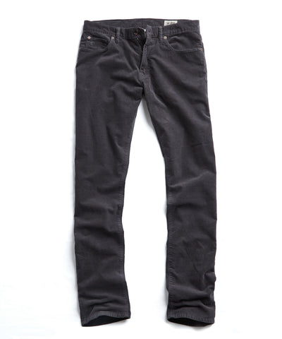 5-Pocket Stretch Italian Cord in Charcoal