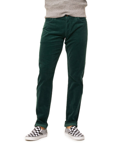 5-Pocket Stretch Italian Cord in Forest Green