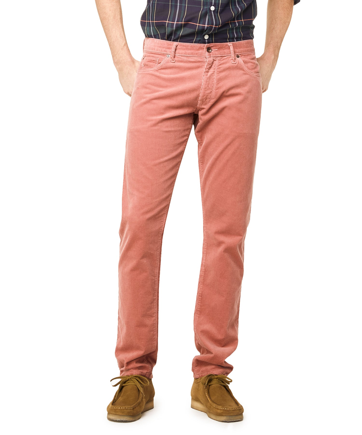 5-Pocket Stretch Italian Cord in Pink