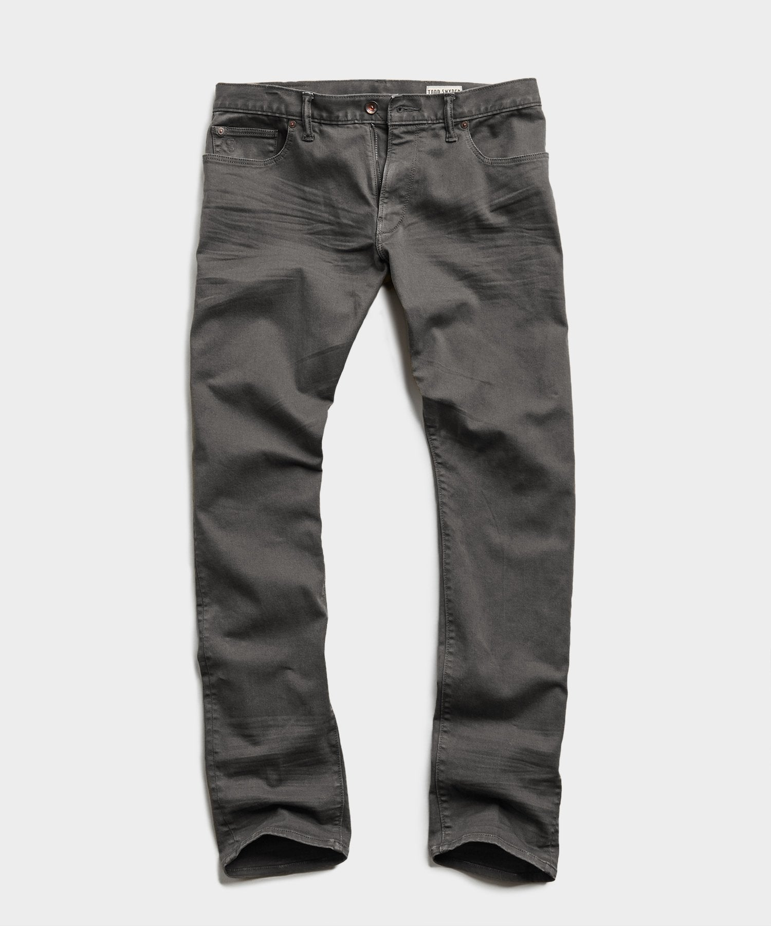STRAIGHT FIT 5-POCKET CHINO IN DARK GRANITE
