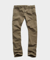Slim Fit 5-Pocket Garment-Dyed Stretch Twill in Olive