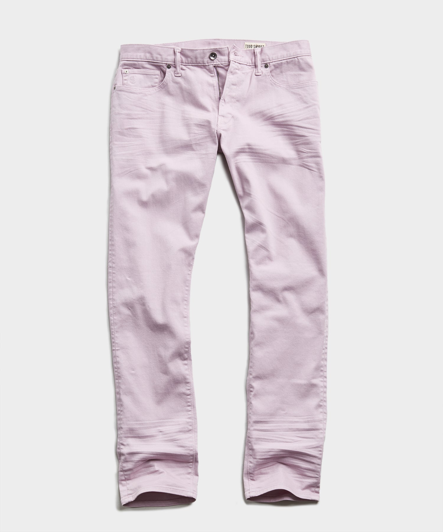 Slim Fit 5-Pocket Garment-Dyed Stretch Twill in Lavender