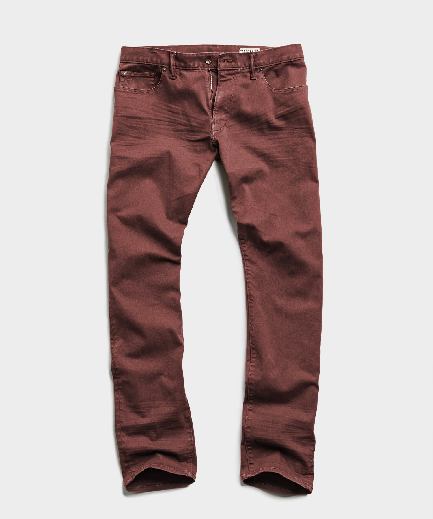 SLIM FIT 5-POCKET CHINO IN REDWOOD