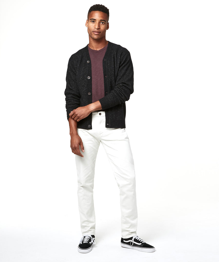 5-Pocket Garment-Dyed Stretch Twill in Off White