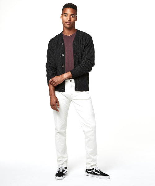 5-Pocket Garment-Dyed Stretch Twill in White