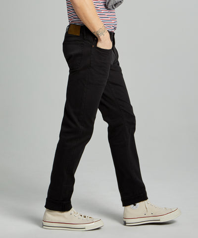SLIM FIT 5-POCKET CHINO IN FADED BLACK