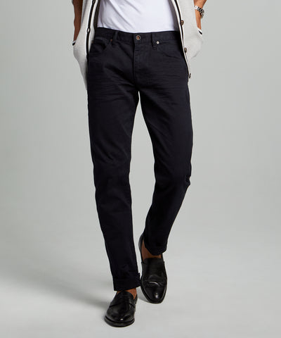 SLIM FIT 5-POCKET CHINO IN NIGHTWATCH