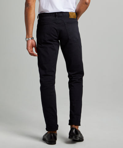 Slim Fit 5-Pocket Garment-Dyed Stretch Twill in Nightwatch