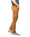 Slim Fit 5-Pocket Garment-Dyed Stretch Twill in Caramel