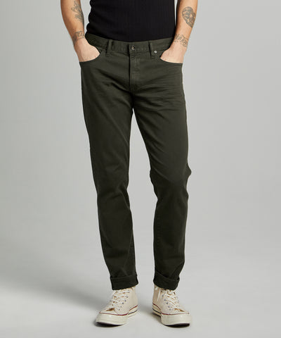 SLIM FIT 5-POCKET CHINO IN PEAT
