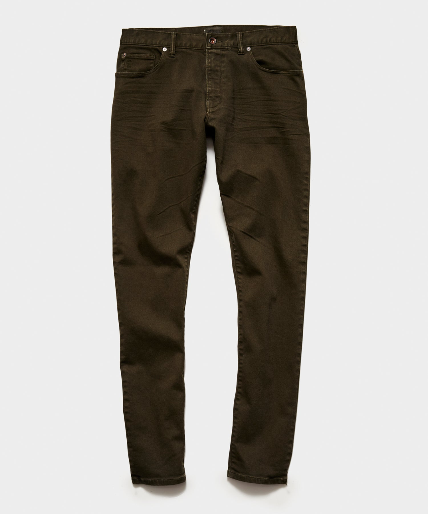 SLIM FIT 5-POCKET CHINO IN SURPLUS OLIVE