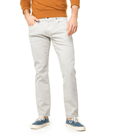 Slim Fit 5-Pocket Garment-Dyed Stretch Twill in Stone
